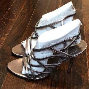 Guess Strappy Metallic Heels